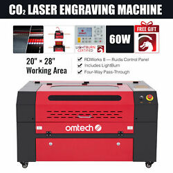 Omtech 60w 20x28 In. Co2 Laser Engraving Cutting Etching Machine With Lightburn