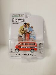 1968 Ford Club Wagon Bus Airport Express Shuttle Red 1/64 Diecast Model Car