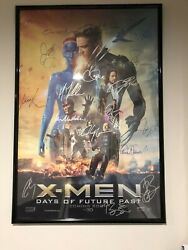 X-men Days Of Future Past-cast And Crew Autographed Posterframed21 Signatures