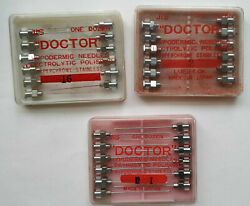 Vintage Doctor Hypodermic Needles 36 Pieces In Case Electrolytic Polished