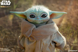 Sideshow Star Wars The Child Baby Yoda Life-size Figure In Stock