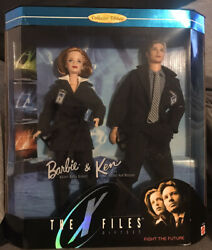 X-files Fight For The Future Barbie Collectible Set - Mulder And Scully 1998 Nib