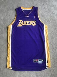 Lakers Jersey Authentic Team Issued Blank Purple Nike Dri Fit Size 48 2002-03