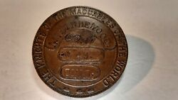 Vintage Knights Of The Maccabees Ohio Masonic Member Lodge Temple Tent Medal
