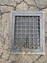 Vintage Cast Iron Wall Mount Grille Heat Grate Register 10 X 12 Square Holes