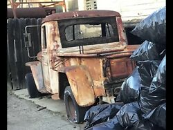 Vintage 1947 Willy's Jeep Overland Pickup Truck Pink Reg Non-op 3.5k Obo Thanks