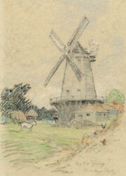 Edward Handley-read, King's Mill, Shipley, Sussex – Early C20th Pastel Drawing