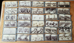 Rare Antique Chinese Lot Of 47 China Throuch The Stereoscope Underwood