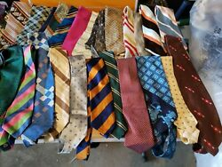 48 Vintage Neckties From 1960's And 1970's, Some Silk