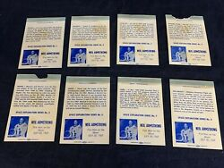 Vintage Matchbox Cover Lot Of 8 Rathkamp Matchcover Society R.m.s. Armstrong Kg