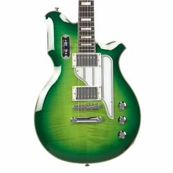 Airline Guitars Map Fm Greenburst Flame Updated Vintage Reissue Electric Guitar