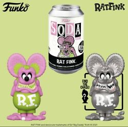 Funko Soda Rat Fink Pink Neon Le 5000 Chance Of Chase Preorder Sealed Can New