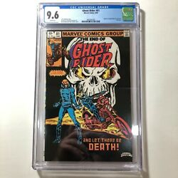 Ghost Rider #81 CGC 9.6 HTF Last Issue Tough Black Cover White Pgs 1983