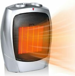 Portable Electric Small Space Heater, 1500w/750w Ceramic Heater With Overheat