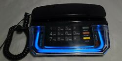Vintage 1990s Master Phone Blue Neon Clear Lucite Model Hac Te-720 Rare Tested