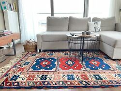 Antique Handmade Vintage Anatolian Decorative Tribal Carpet Area Rug 6and039 X 4and0392
