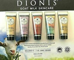 Dionis Goat Milk Skincare Hand Creams 5 Pack Set Moisturizing Soothes Nourishes