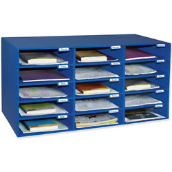 Classroom Keepers Mail Box - 15 Mail Slots Blue