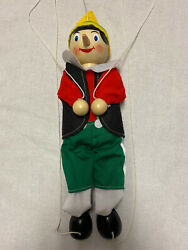 """Pinocchio Marionette 13"""" String Puppet Wooden Boy Original Toy Company"""