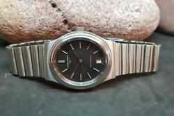 Vintage Used Longines Automatic Black Dial Date Manand039s Watch