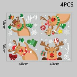Merry Christmas Wall Sticker PVC Removable Decals Electrostatic Stickers