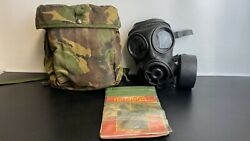 Avon 1989 British Army Respirator Gas Mask S10 - Size 2 And Pouch And Nbc