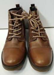 Bull Boxer Selden Men#x27;s Leather Boots Size 9