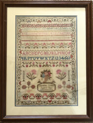 Amazing 1832 Charlotte Gilbert Age 15 Antique American Sampler - Excellent