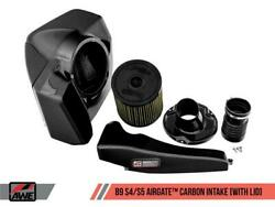 Awe Airgate Carbon Fiber Air Intake System For Audi B9 S4 / S5 3.0t - With Lid