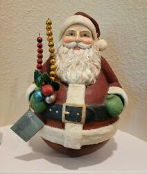 Bethany Lowe Huge Tall Round Roly Poly Santa