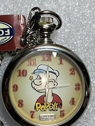 Popeye And Wimpy Pocket Watch No Figurine 1997 Fossil Limited Edition 211/15000