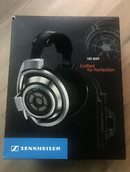 Sennheiser HD 800 first generation Headphones with upgrade balance cable .