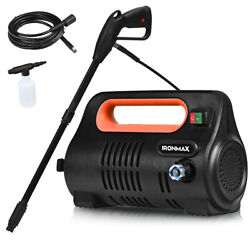1800psi Portable Electric High Pressure Washer 1.96gpm With Hose Reel Orange