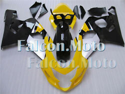 Injection Mold Fairing Set Fit For K4 2004 2005 Gsx-r 600/750 Yellow Black Afx