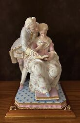 Antique French Vion And Baury Bisque Figurine Of Lovers Ext Rare