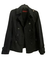 Black Tripp Peacoat With Skull Accents Med M Hot Topic From Early 2000s