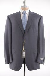 Canali Nwt Suit Size 48l In Solid Gray Wool 2 Button Flat Front Current 1895