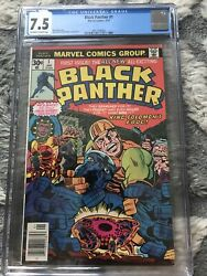 BLACK PANTHER #1 CGC 7.5 OW WP JACK KIRBY 1977 FREE SHIPPING HOT KEY ISSUE