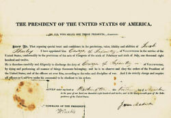 James Madison - Military Appointment Signed 11/01/1812 With Co-signers