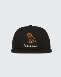 Ovo X New Era Fitted Caps Owl Arabic Embroidered Black 7 1/2