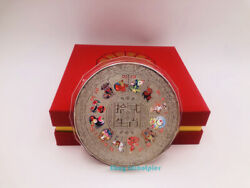 Third Set Of Stamps Chinese Zodiac Souvenir Medal Colours Silver Plating 1000g