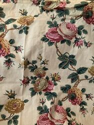 """Vintage Roses 56""""wide 64""""long Curtain Panel By William Sonoma"""