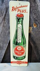 B-1 Lemon Lime Soda Thermometer Sign. Works Painted Metal 16.25inx4.5in