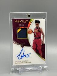 18/19 Panini Immaculate Collin Sexton Rookie Rpa Gold /10 3 Color Patch