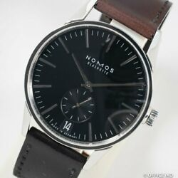 Nomos Zurich Date Black Dial Zr1z3b2 Automatic Winding Leather X Ss Menand039s Watch