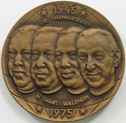 Sweden Medal Raudberget 1945-1975 A World In Peace 56mm 79 G P31 025