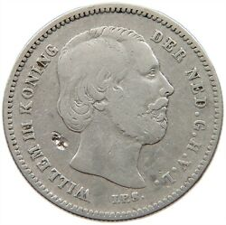 Netherlands 25 Cents 1849 Rare S31 531
