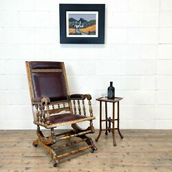 Antique Gentlemanandrsquos Rocking Chair M-2991 - Free Delivery