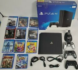 🔥sony Playstation Ps4 Pro 1tb Console + 11 Games, 3 Controllers, Charger Cradle