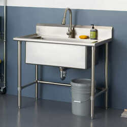 Trinity 32 X 16 Stainless Steel Utility Sink Free Shipping